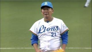 西武OBの東尾修、広島OBの山本浩二が一打席限りの真剣勝負に臨んだ。果...