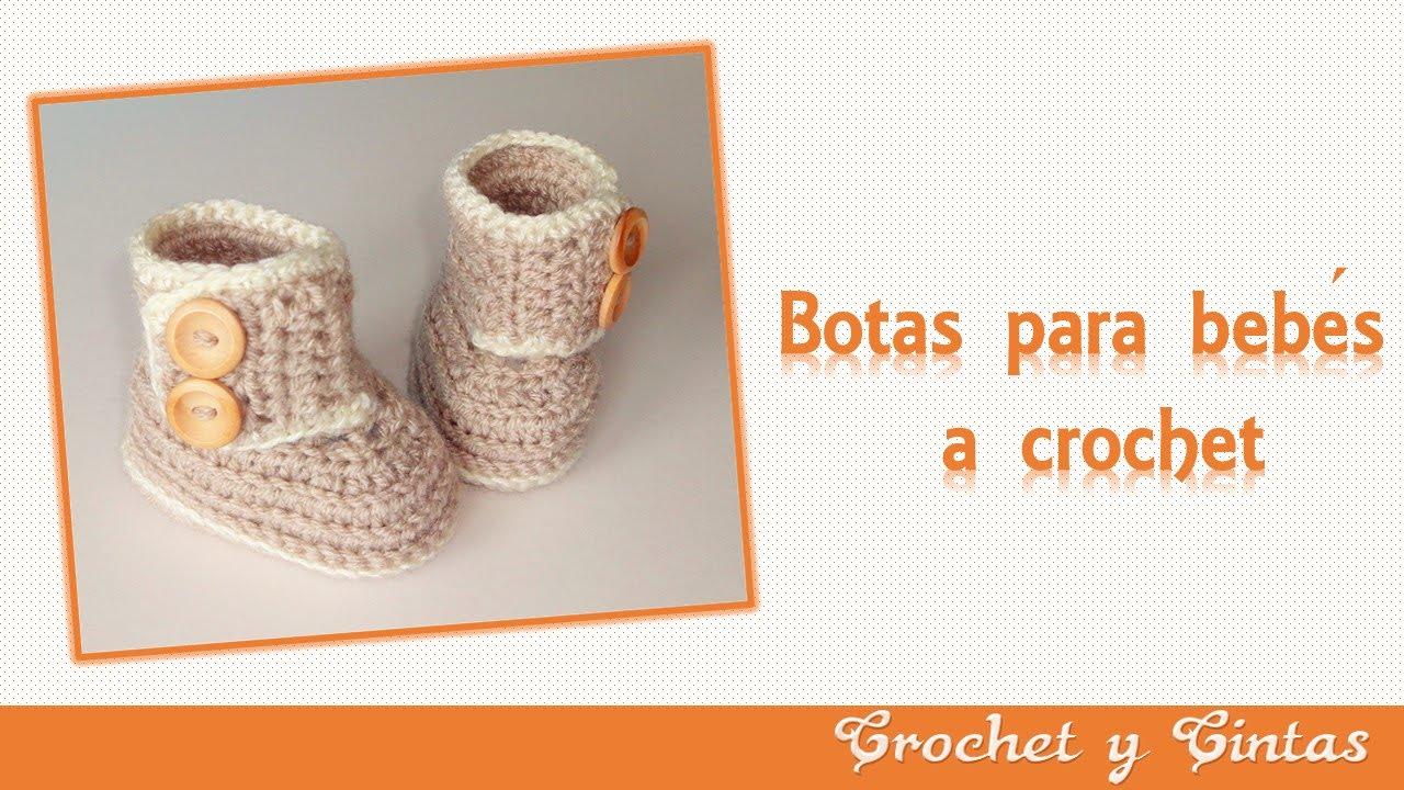 Botas – zapatos para bebés tejidas a crochet o ganchillo - Parte 2 ...