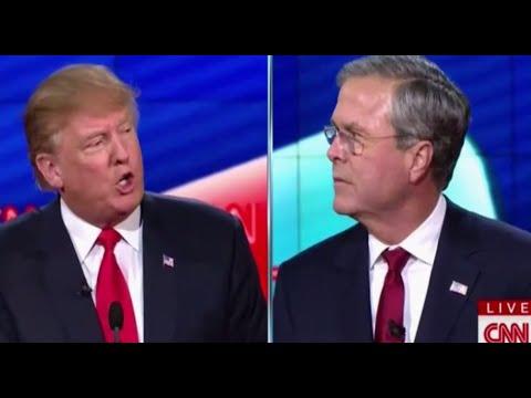 Donald Trump vs Jeb Bush HEATED Arguments at Debate 121515