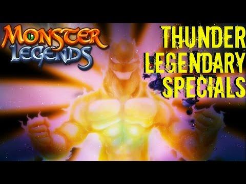 Monster Legends   All Thunder Legendary Monsters Special Skills   Ultimate Attacks