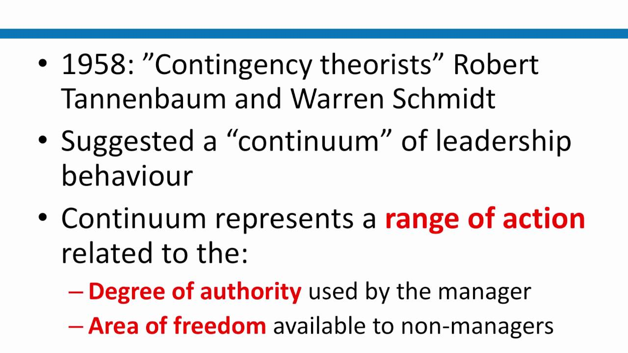 tannenbaum and schmidt leadership continuum