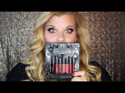 Holiday 2017: Kat Von D Everlasting Mini Liquid Lipstick Try On  Makeup Your Mind