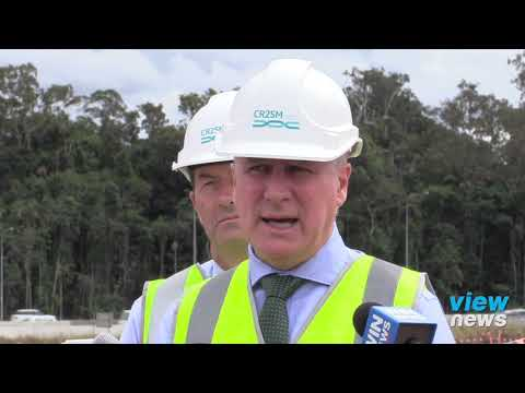 McCormack, Wallace media conference onsite at Caloundra Interchange Project
