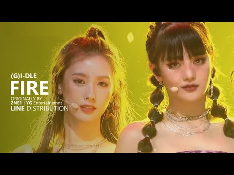 (G)I-DLE (여자)아이들 - FIRE Cover | Line Distribution