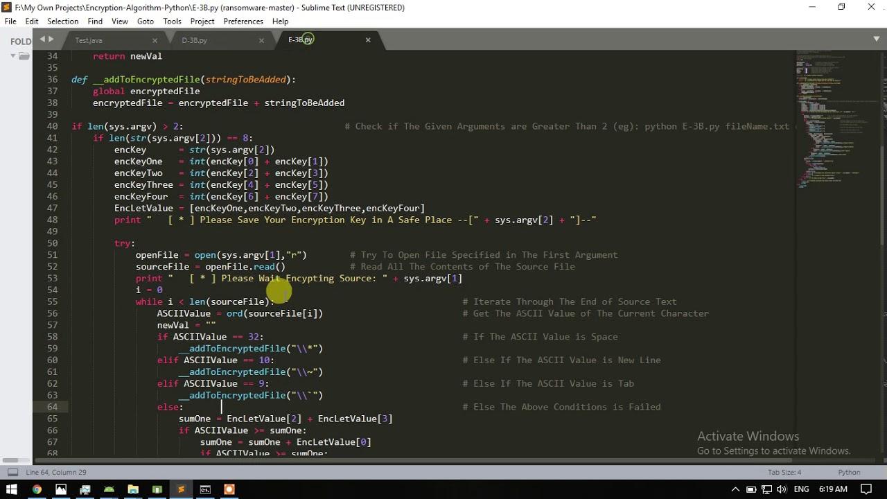 Python Text Encryption and Decryption Algorithm