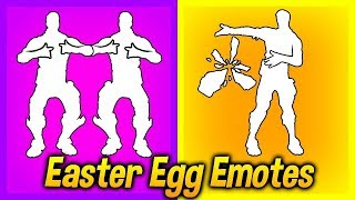 These 5 Fortnite EMOTES Have SECRET Hidden Features..! (Easter Egg Emotes Update)