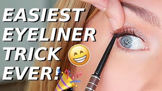 Eyeliner Trick For Hooded, Downturned, Aging Eyes | Quick EASY Eye Lift!