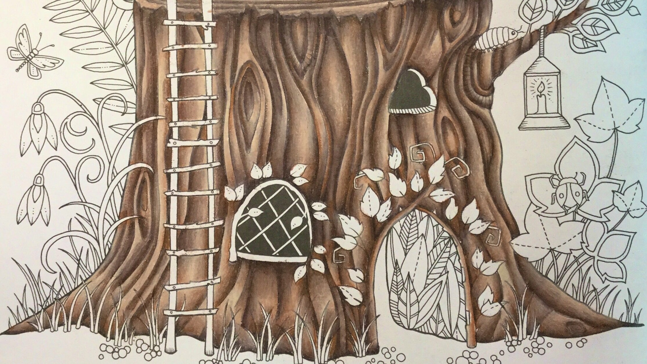 ENCHANTED FOREST by Johanna Basford - prismacolor pencils - color ...