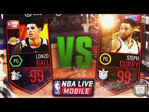 Download Youtube: 99 LONZO BALL SCORES 22 POINTS AGAINST 102 OVERALL! 99 STEPH CURRY Vs LONZO BALL GAMEPLAY! NBA LIVE
