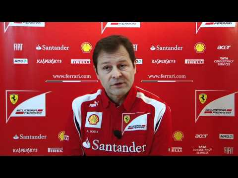 F1 - Ferrari F150 launch - Interview with Aldo Costa