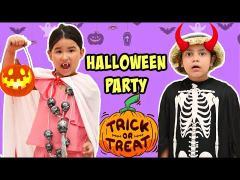 KIDS Pretend Play HALLOWEEN Party | ToyStars