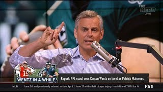 [EXCITED] Report: NFL scout sees Carson Wentz on level as Patrick Mahomes | THE HERD 8/16