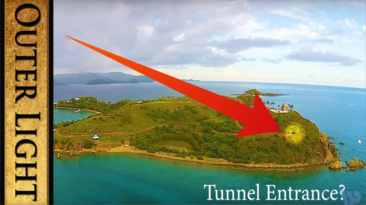 The Outer LIght Hidden tunnel directly under temple on Epstein Island