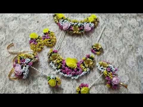 D.i.y how to make flower jewelry for haldi 2019