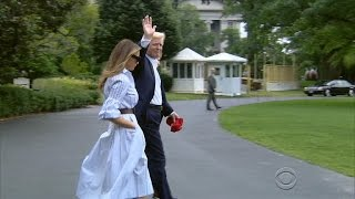 After voicing frustration over Russia probe, Trump makes first visit to Camp David