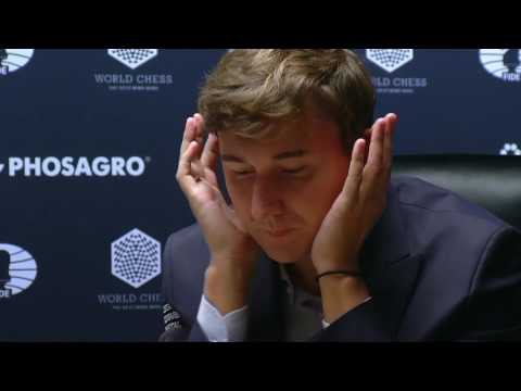 25 minutes of Sergey Karjakin thinking