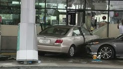 Car Crashes Into Gas Station, Causing Pump Fire In Lauderhill