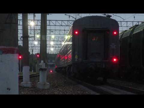 Отправление ЧС7-031 с поездом№085Ч Москва-Климов со станции Бекасово-1 2.07.2018