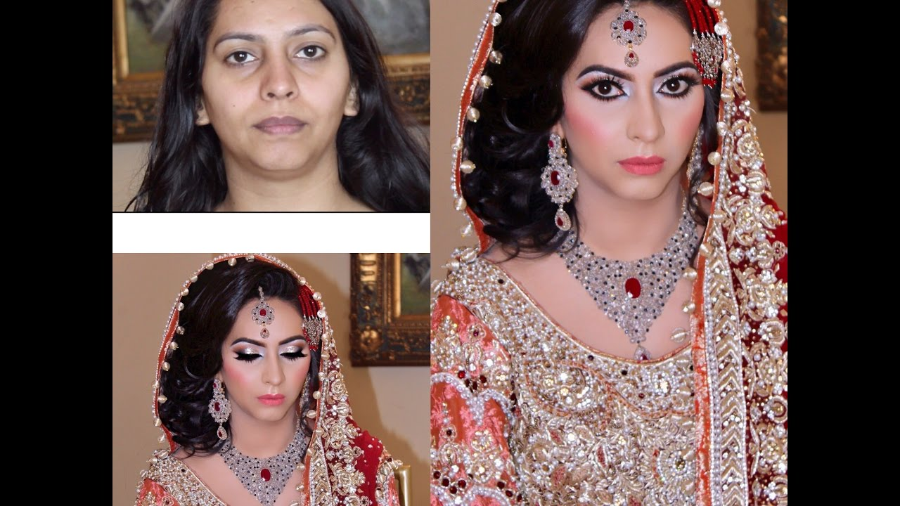Real Bridal Makeover Traditional Asian Bridal Makeup Hairstyle