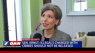 Sen Earnst Illegals charged with crimes should not be released