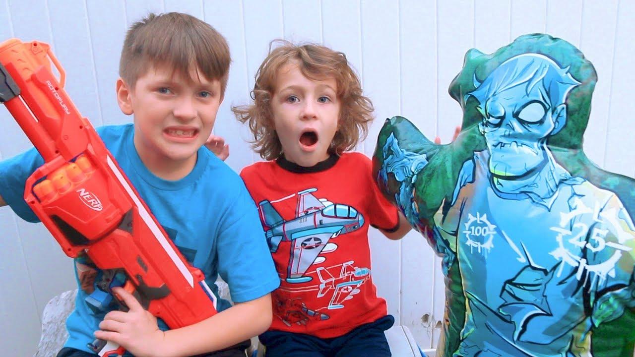 The Nerf Zombie Strike Inflatable Target Beahero Kids