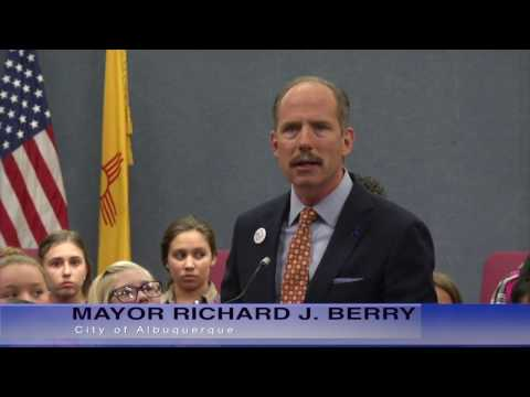 Mayor Richard J. Berry, City of Albuquerque  News Conference  10-21-16