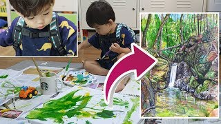 Painting collab with a two-year-old (What I did to my toddler