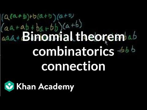 Binomial theorem combinatorics connection | Algebra II | Khan Academy