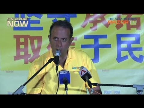 Kenneth Jeyaretnam's 3 promises if elected