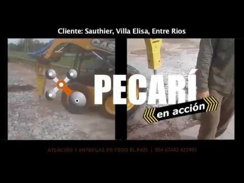 Martillo Hidráulico en acción | Sauthier  Villa Elisa