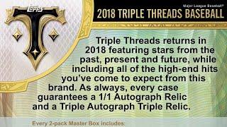 11/09/18 - Facebook - 8 PM CDT - 2018 Topps Triple Threads Full Inner Case Break