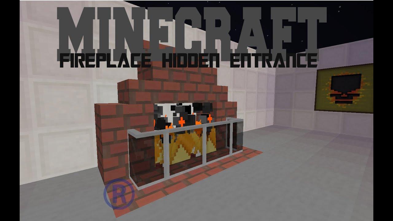 minecraft fireplace hidden entrance secret room youtube