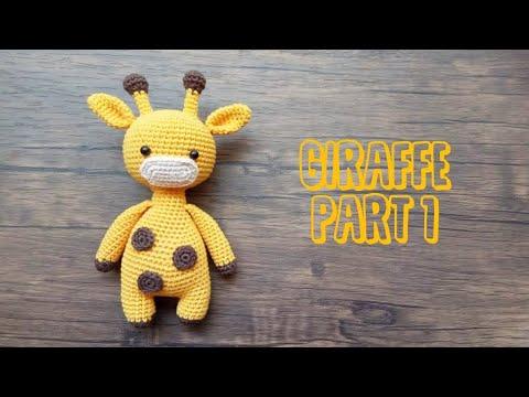 Free Giraffe Amigurumi | Free Crochet Pattern | Hooked by Kati | 360x480