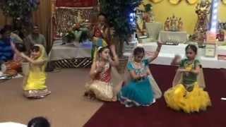 Vasant Panchmi Dance Performace at Shiv Mandir Atlanta Jan2015