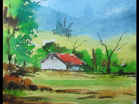 paint simple landscape