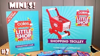 Coles Exclusive Little Shop Minis Opening #2 + Shopping Trolley! 21 blind bags! | Birdew Reviews