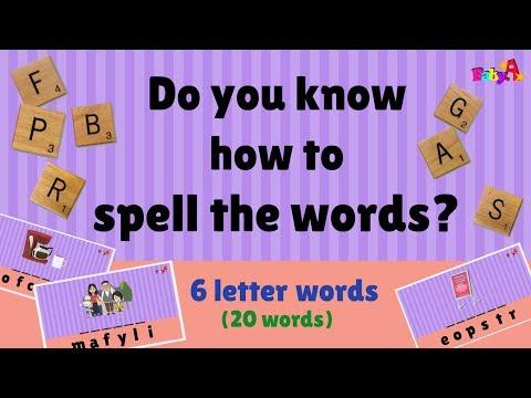 Spelling of words (6 letter) | Scrabble | Word Games 3 by BabyA Nursery Channel