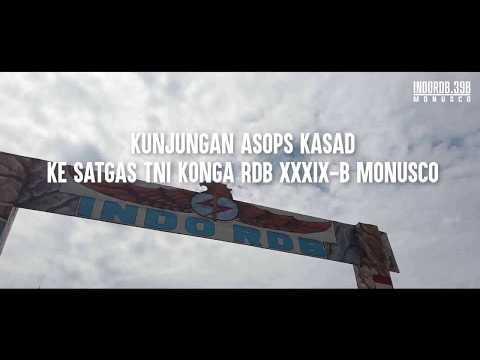 Asops KASAD Mengunjungi Satgas RDB 39B Monusco