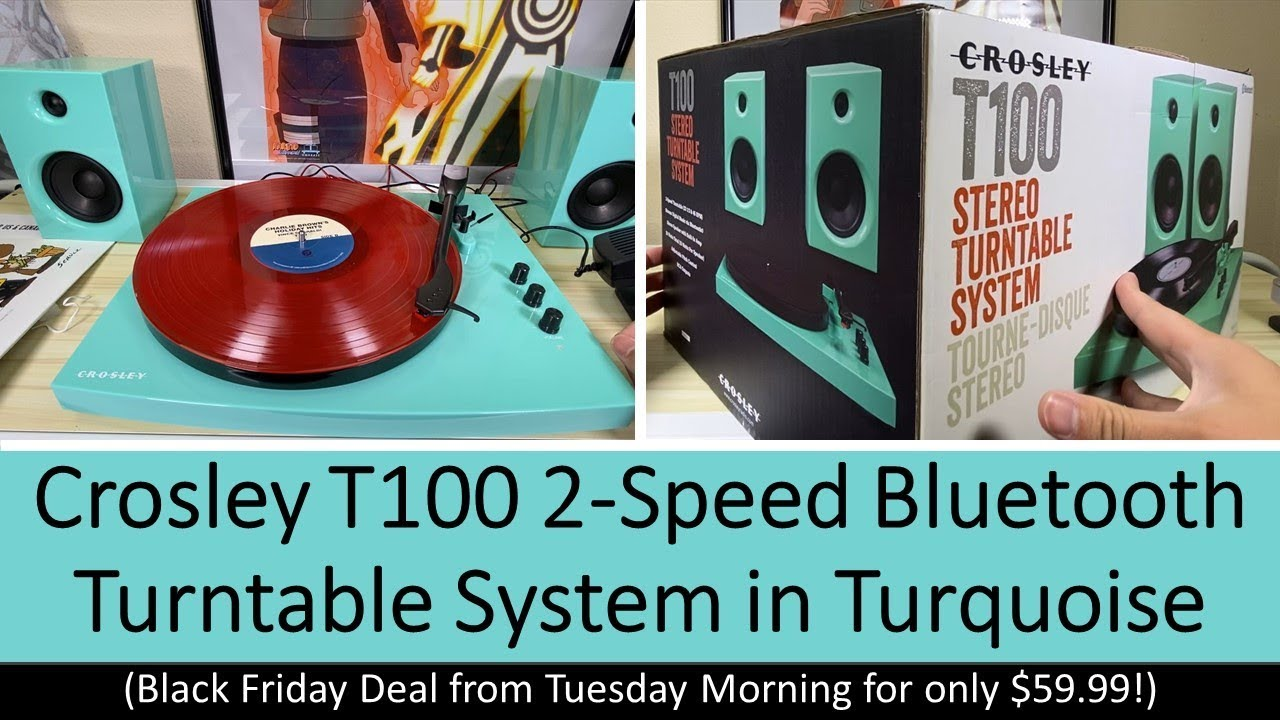 Crosley T100 Record Player In Turquoise Black Friday Deal Got It For 59 99 Youtube