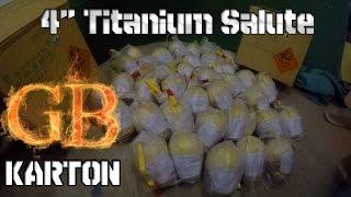 unboxing karton 4 titanium salute shells   fireworks