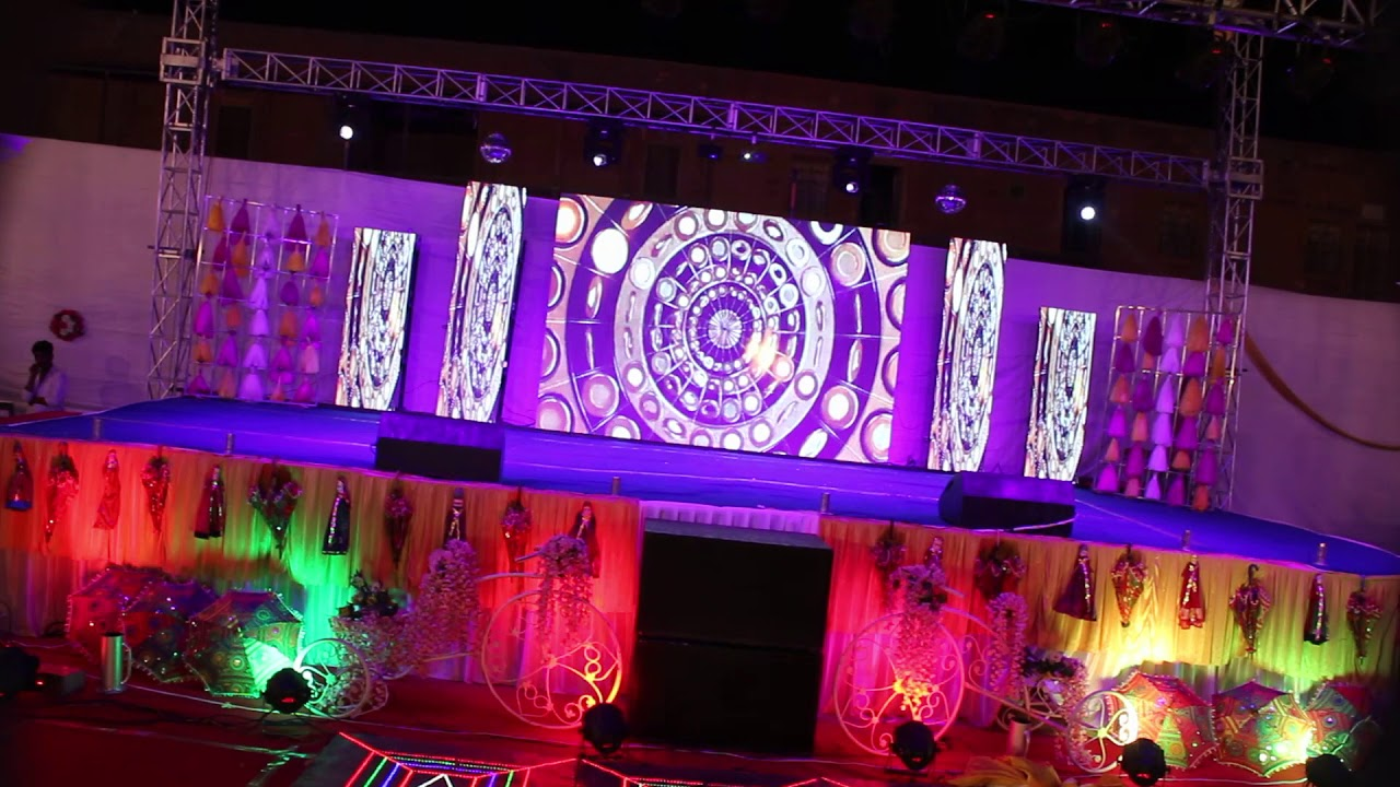 sangeet dj night concepts contact us marriage events presented by..manish  decorators 9460049651 - YouTube