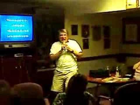 Derrick sings karaoke