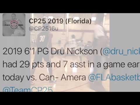 Dru Nickson Class 2019 #1 PG Florida ( Indianapolis 2017 Powerade Platform 4-30-17 )