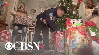Son of fallen firefighter receives Christmas gift from departments across the U.S.