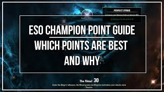 ESO Champion Point Guide - Which Points are the Best and Why
