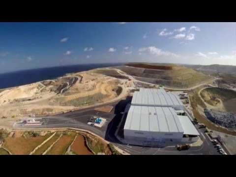 Waste treatment and biogas plant Malta, MNWTP - designed an build by B.E.V. Consortium