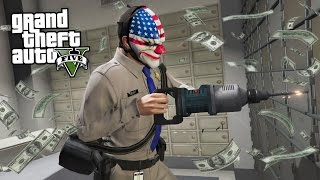 ROBBING BANKS & CRACKING SAFES!! (GTA 5 Mods)