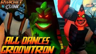 Ratchet & Clank PS4 - All Characters/Enemies Dancing to Groovitron