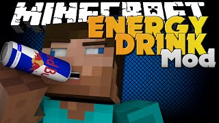Minecraft Mod - ENERGY DRINK MOD - REDBULL GIVES YOU WINGS
