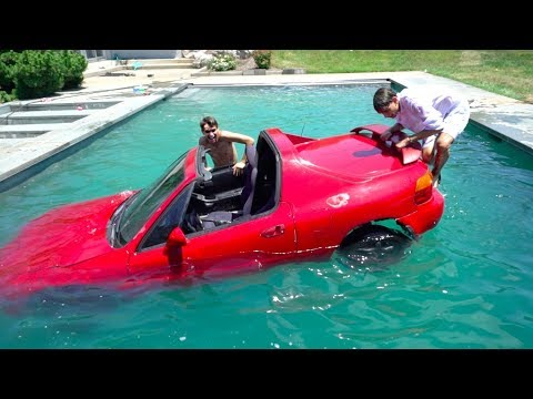 Driving A CAR UNDERWATER For 24 Hours!